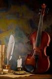 Aufbau der Violinen- und Antikefelder Lizenzfreie Stockbilder