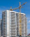 Aufbau der vorfabrizierten Häuser. stockfotos