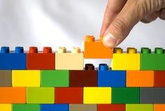 Aufbau der Wand Stockbild