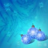 Aufbau der Weihnachtskugeln Lizenzfreies Stockbild
