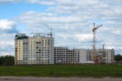 Aufbau der Wohngebäude Stockfotos