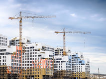 Aufbau der Wohnhäuser Lizenzfreies Stockfoto