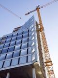 Aufbau des Bürohauses Stockbild
