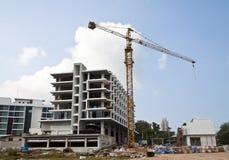 Aufbau des Gebäudes. Stockfotografie