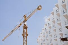 Aufbau des Gebäudes. Stockbild