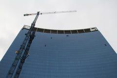 Aufbau des Glasgebäudes Stockfotografie