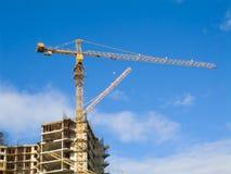 Aufbau des Hauses 3 Stockbild