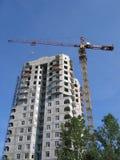 Aufbau des Hauses Stockbilder