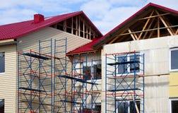 Aufbau des Hauses. Fassade Stockbilder