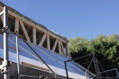 Aufbau des Holzrahmens Stockbilder