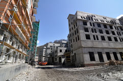 Aufbau des Hotelkomplexes Stockfotos