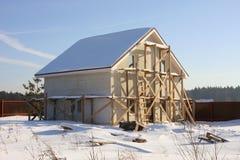 Aufbau des kleinen Hauses. Stockbild