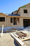 Aufbau des neuen Hauses Stockbild