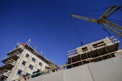 Aufbau des neuen Hauses Lizenzfreies Stockbild