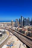 Aufbau in Dubai stoppt nie Lizenzfreies Stockfoto