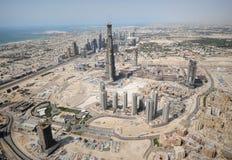 Aufbau einer gesamten Stadt Stockbilder