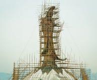 Aufbau eines chinesischen Gottes stockbilder