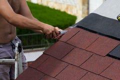 Aufbau eines Dachs Lizenzfreies Stockfoto