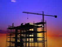Aufbau eines Gebäudes lizenzfreie stockfotos