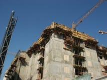 Aufbau eines Gebäudes Stockfotografie