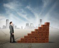 Aufbau eines Geschäfts Lizenzfreies Stockfoto