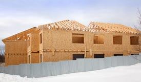 Aufbau eines neuen Hauses Lizenzfreies Stockbild