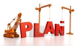Aufbau eines Planes Stockbilder
