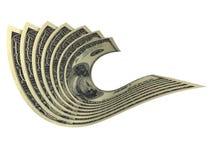 Aufbau einiger Dollarbanknoten Lizenzfreie Stockfotografie