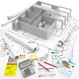 aufbau Erneuerbare Energiequellen Real Estate in Europa und in USA Stockfoto