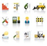 Aufbau-Ikonen-Set Stockbilder