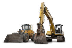 Aufbau-Maschinerie Lizenzfreie Stockbilder