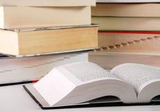 Aufbau mit Büchern Lizenzfreie Stockfotografie