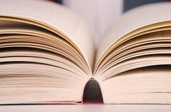 Aufbau mit Büchern Stockfotografie