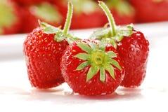 Aufbau mit Erdbeeren Lizenzfreies Stockbild