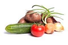 Aufbau mit Gemüse Stockbild