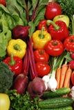 Aufbau mit rohem Gemüse Lizenzfreie Stockfotografie