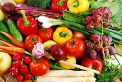 Aufbau mit rohem Gemüse Stockfotografie
