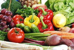 Aufbau mit rohem Gemüse Lizenzfreies Stockfoto