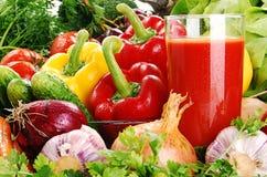 Aufbau mit rohem Gemüse Lizenzfreies Stockbild