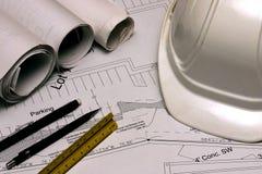 Aufbau-Pläne 1 Stockfoto