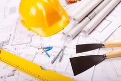 Aufbau-Pläne Stockfotos