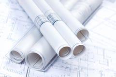 Aufbau-Pläne Stockfoto