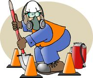 Aufbau-Sicherheits-Mann Stockfoto