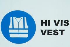 Aufbau-Sicherheits-Weste-Ikone Lizenzfreie Stockfotografie