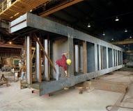 Aufbau: Stahlherstellung stockbilder