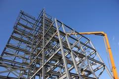 Aufbau-Stahlwerk stockbilder