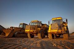 Aufbau-Traktoren Lizenzfreie Stockfotos