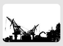 Aufbau u. Demolierungkranabbildung Stockfoto