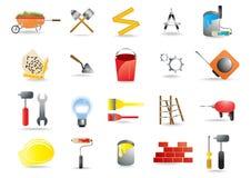 Aufbau- und Gebäudehilfsmittel stock abbildung