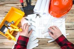Aufbau und Reparatur Stockbild